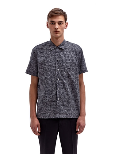 Sidian Ersatz And Vanes Men's Geometric Pattern Short Sleeved Shirt Ln Cc