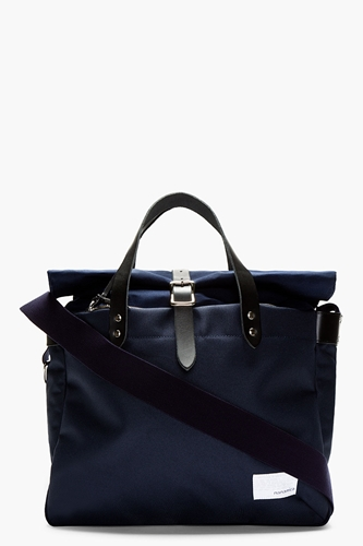 Nanamica Navy Roll Top Briefcase For Men Ssense