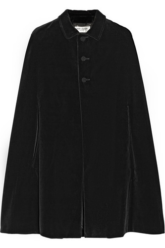 Saint Laurent Velvet Cape Net A Porter.Com