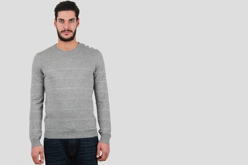 Band Of Outsiders Sailor Sweater Heather Grey Nouveautes
