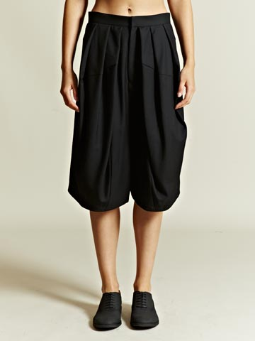 Junya Watanabe Women s Wool Serge Dropped Crotch Shorts LN CC