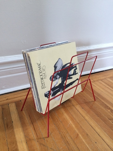 Powder Coated Red Magazine Book Vinyl Record Rack By Florastanley