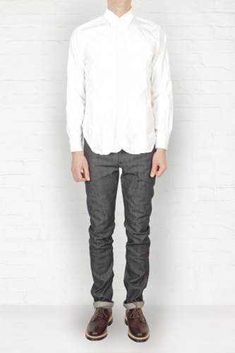 Buy Mens Engineered Garments White Broadcloth Shirt Start London