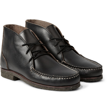 Quoddy Wabanaki Crepe Sole Grained Leather Chukka Boots Mr Porter
