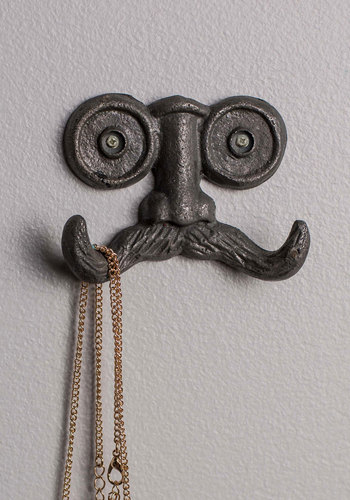 Stache Your Things Wall Hook Mod Retro Vintage Decor Accessories Modcloth.Com