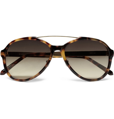 Linda Farrow Luxe Tortoishell Acetate Aviator Sunglasses MR PORTER