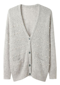 Girl by Band of Outsiders Cropped Boxy Cardigan La Garconne