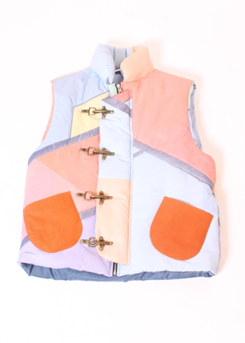 Agi Sam Multi Colour Quilted Gilet One