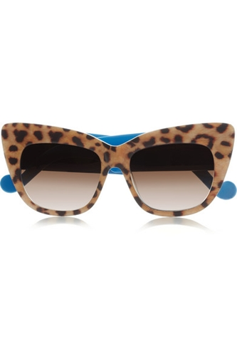 Anna Karin Karlsson Alice Goes To Cannes Cat Eye Leopard Print Acetate Sunglasses Net A Porter.Com