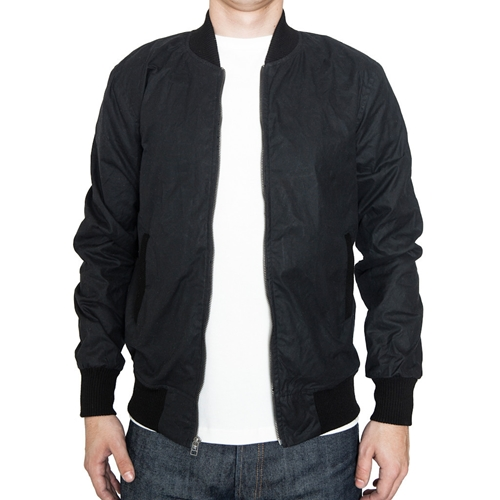 3Sixteen Stadium Jacket Black Waxed Canvas