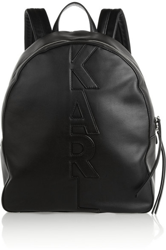 Karl Lagerfeld Appliqued Leather Backpack Net A Porter.Com