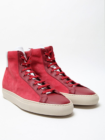 Common Projects Men's Vintage High Sneaker In Red At Oki Ni