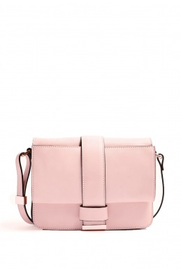 Cedric Charlier Pink Cross Body Gold Hardwear Box Bag By Cedric Charlier