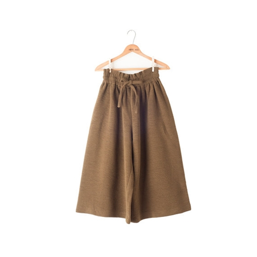 Paper Bag Pants Culottes High Waist Khaki By Menstruum