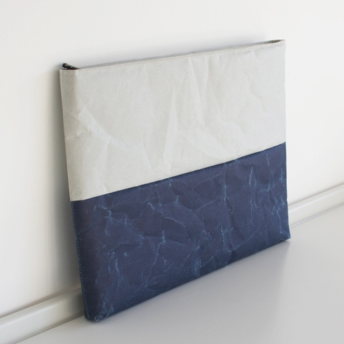 Cushioned Case In Gray Dark Blue For Ipad Oen Shop