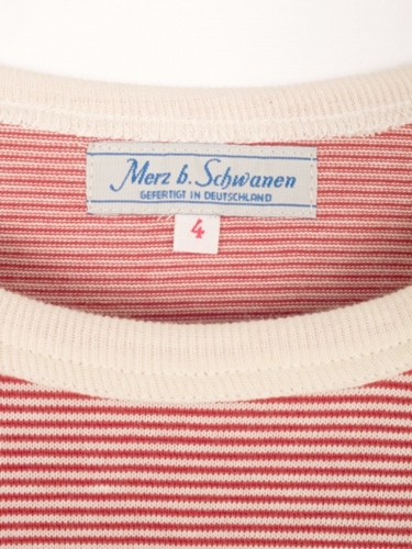 Merz B. Schwanen Army Shirt Red Natural Striped