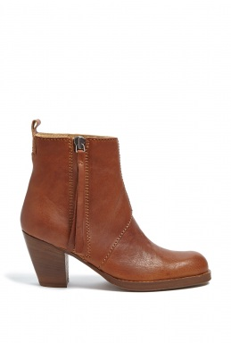Acne Studios Coffee Pistol Ankle Boots By Acne Studios