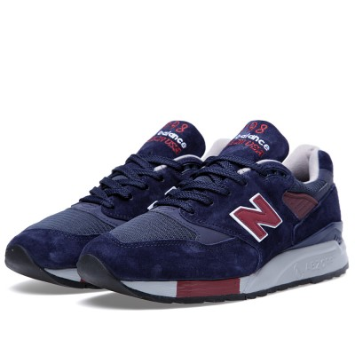 New Balance M998mb Navy Burgundy