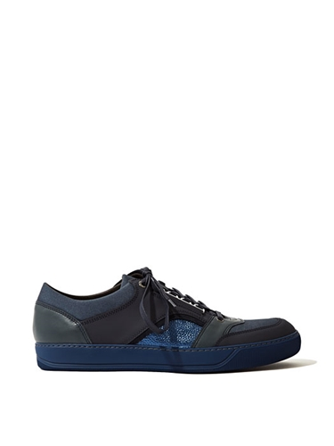 Lanvin Men's Multi Panel Low Sneakers Ln Cc