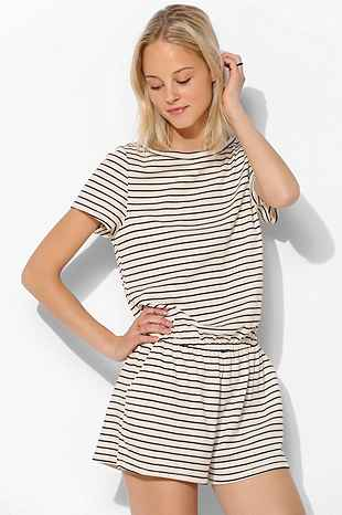 Bdg Knit Stripe Romper Urban Outfitters