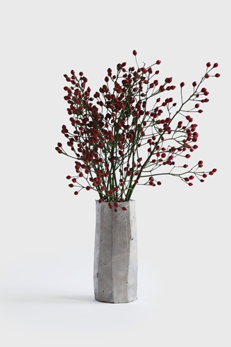 Faceted Platinum Wall Vase The Garden Edit