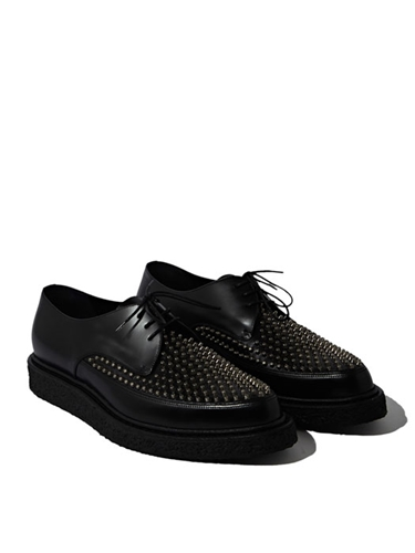 Saint Laurent Mens Studded Creeper Shoes Ln Cc