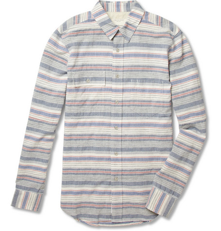 Rag bone Striped Cotton and Linen Blend Shirt MR PORTER