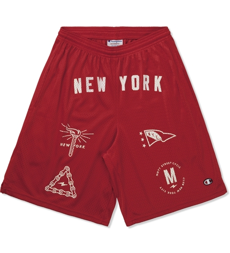 Mott Street Cycles Red New York Shorts Hypebeast Store. Shop Online For Men's Fashion Streetwear Sneakers Accessories