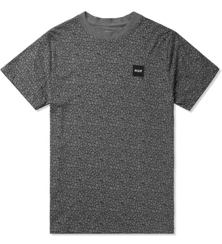 Huf Grey Quake T Shirt Hypebeast Store. Shop Online For Men's Fashion Streetwear Sneakers Accessories