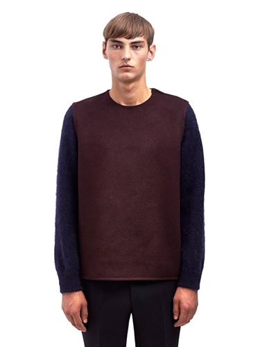 Yang Li Mens Virgin Wool Cashmere Crew Neck Sweater
