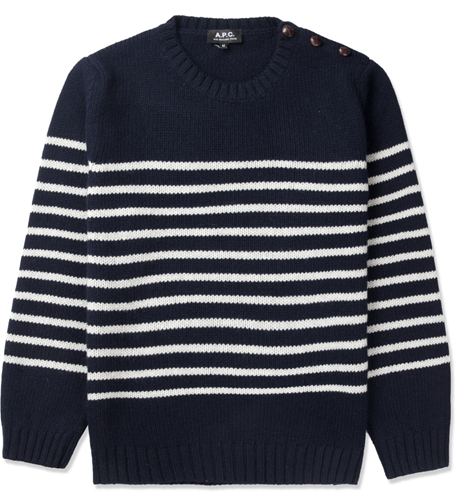 A.P.C. Dark Navy Marin Pullover Sweater Hypebeast Store. Shop Online For Men's Fashion Streetwear Sneakers Accessories