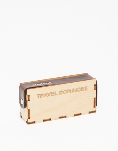 Walnut Studiolo Travel Dominoe