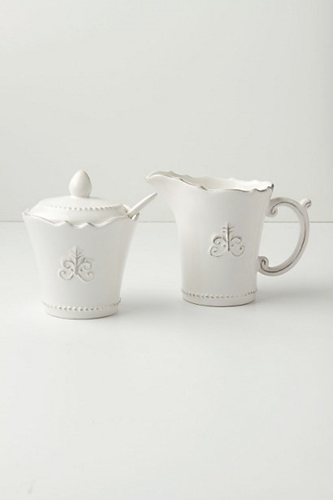 Fleur De Lys Sugar Pot Anthropologie com