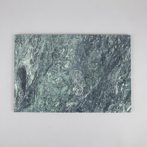Broste Extra Large Marble Rectangle Plate Green