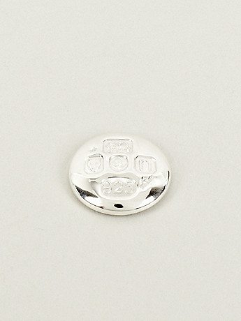 Bunney Limited Edition Diamond Jubilee All over Hallmark Sterling Silver Pin Badge in silver at oki ni