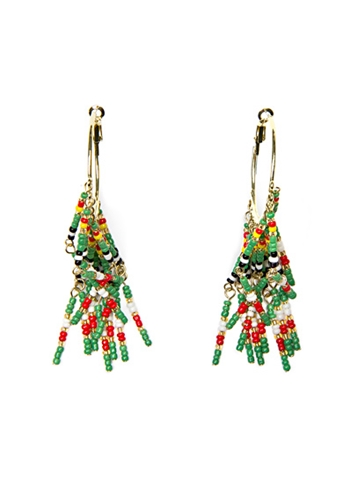 TOUCH SALE TOUCH Hanging beads loop earrings