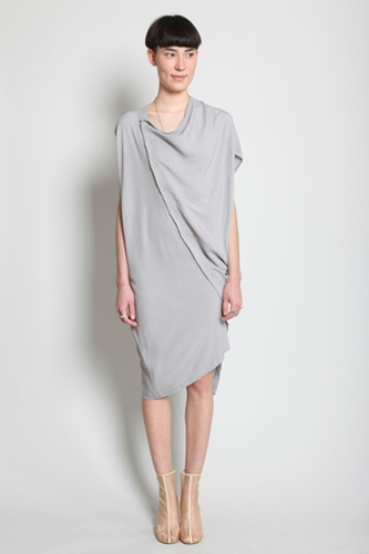 Totokaelo Boessert Schorn Tilted Dress Light Grey