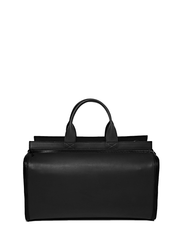 New Season Bamin Unisex Matte Leather Duffel And Overnight Bag 2 In 1 Set Ln Cc