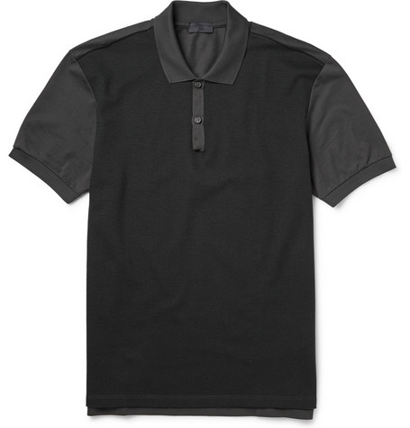 Lanvin Two Tone Panelled Polo Shirt Mr Porter