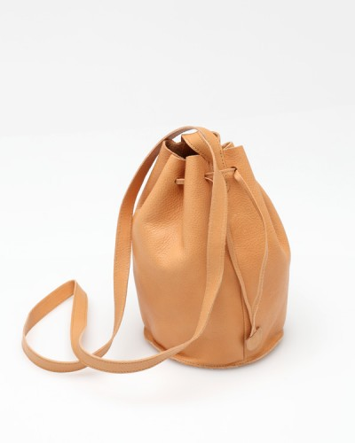 Drawstring Purse In Natural