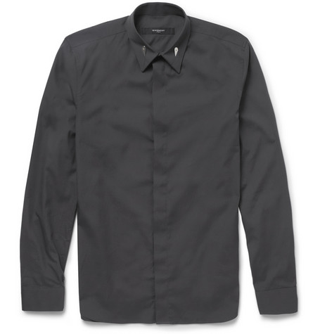 Givenchy Cotton Shirt With Collar Stay Detail Mr Porter