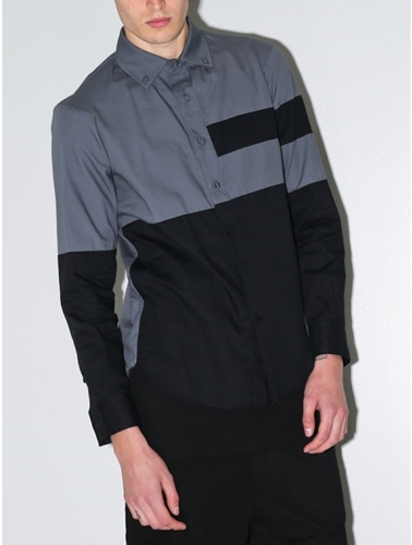 William Watson Noah Shirt In Gunmetal Oak