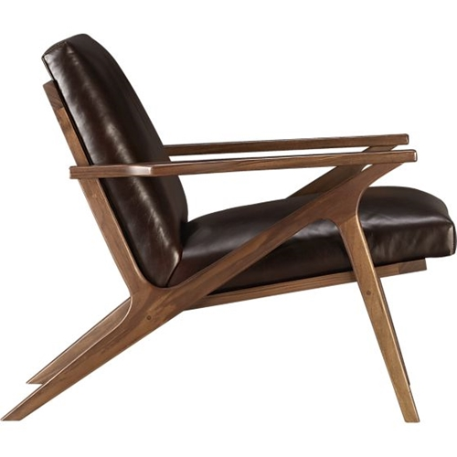 Cavett Leather Chair In Chairs Crate And Barrel