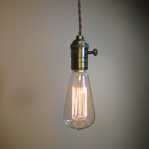 Farmhouse Style Bare Bulb Pendant Light With 10 By Bluemoonlights