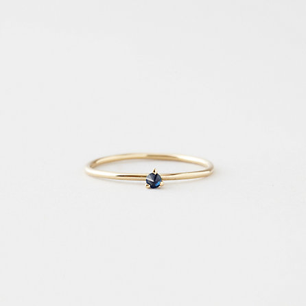 TINY SOLITAIRE RING WITH SAPPHIRE Steven Alan