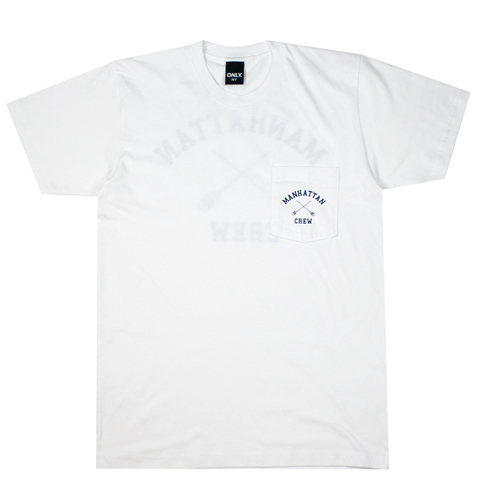 Only Ny Manhattan Crew T Shirt In White Huh. Store