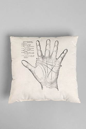 The Rise and Fall Palmistry Pillow Urban Outfitters