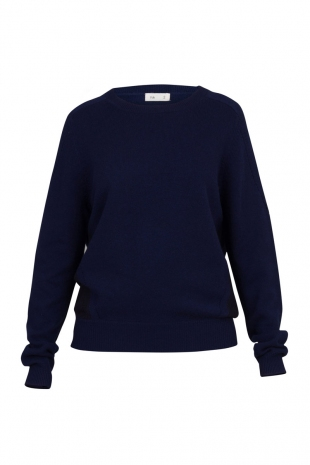 Folk Womens Panelled Crew Bright Navy Folk Womens