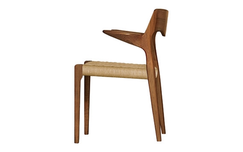Moller Arm Chair 55 Woven Teak Design Within Reach