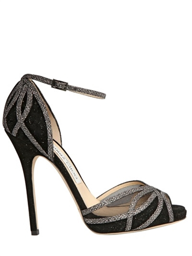 Jimmy Choo 120Mm Menage Glitter Suede Sandals Luisaviaroma Luxury Shopping Worldwide Shipping Florence
